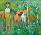 The Girl, Goats And Nature